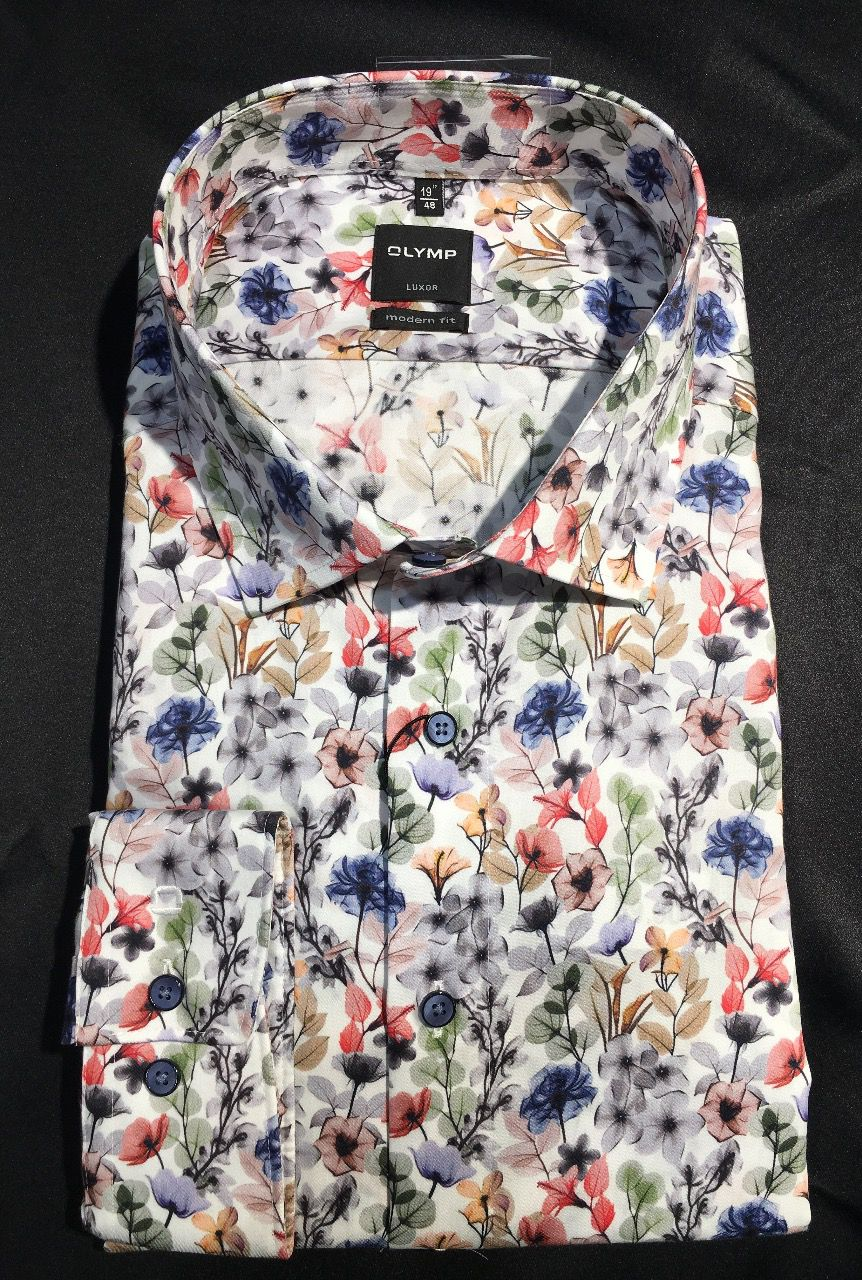 CHEMISE OLYMP MODERN FIT FANTAISIE FLORALE